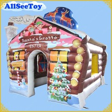 New Design 3.6m/12ft Inflatable Santas Grotto for Christmas,Pvc Tarpaulin Material House(China)