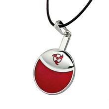 VEIA Jewelry Hot Anime Naruto necklace Sasuke Uchiha Family Marks Red Round Coin Pendant Necklace choker Collar can Dropshipping