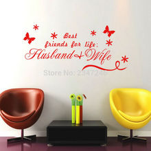 Love Quotes Wall Decors Best Friends Husband and Wife DIY Removable Art Vinyl Wall Sticker Decal Mural Home Decoration(China)