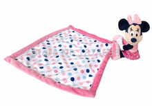 New Pink Minnie Baby Snuggle Security Blanket Blankie Blanky Plush Toy Newborn Reassure Towel for Kids Girls Preferred 30*30cm