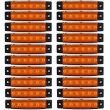 20 PCS Amber LED Side Marker Lights For Truck Trailer Bus Clearance Lamp 12V
