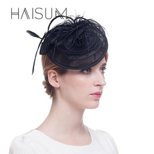 haisum Women's Fascinator Delicate Hair Clips Hair Elegant Fascinator Hat Fascinators Bridal Hairwear Wedding Derby Cap HN41(China)