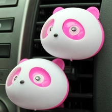 Perfume 1 Pair Light And Pure Cute Panda Shape Conditioning Vent Perfume Diffuser Outlet Good Smell Air Freshener(China)