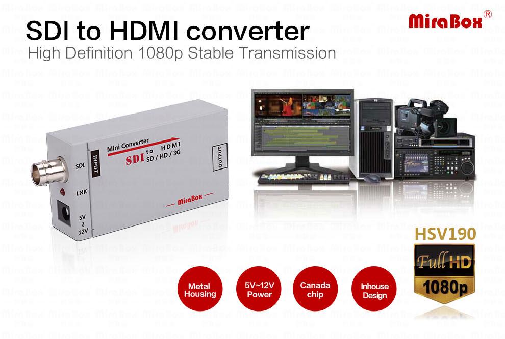 1080P Mini 3G SDI To HDMI Converter With Audio For HD Camera SDI To HDMI Video Converter Mini Box Support SDI3GHD SDI Signal (1)