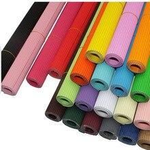 8 листов/сумка Цветной A4 гофрированные Бумага одноцветное 21x29 см Цветок Оберточной записки Бумага дети ручной DIY книги по искусству детей ор...(China)