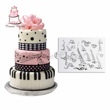 Musical Not Stencil for Celebration Cake,Wedding Cake Decoration Cookies Plastic Template Mold Fondant Stencil DIY Tools st-769(China)