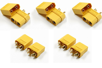 F04688-5 5X XT90 Battery Connector Set 4.5mm Male Female gold plated banana plug Suit For 90-120A current + FS