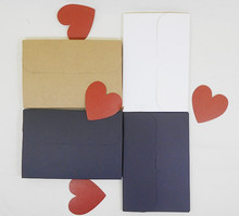 50pcs/lot-15.5*10.7*0.5cm White Black Kraft Paper Box for Postcard Photo Albumn Invitation Play Card Packaging Gift Boxes