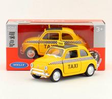 1:36 alloy pull back car models,high simulation Fiat500 Taxi car,metal diecasts toy vehicle,2 open doos,kid's gift,free shipping(China)