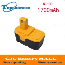 Replacement Power Tool Battery 18V Ni-CD 1.7Ah for Ryobi ABP1801 ABP1803 BCP1817/2SM