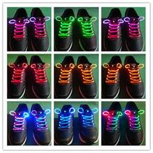 Free shipping  LED Light Up Shoelaces Shoe Laces Flash Glow Stick