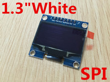 "1PCS 1.3"" OLED module white color SPI 128X64 1.3 inch OLED LCD LED Display Module 1.3"" SPI Communicate"