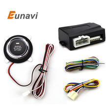Eunavi  Car Alarm With Push Start Button And Transponder Immobilizer System Car Engine Start Stop