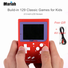 Retro Mini Pocket Handheld Game Console 2.5 inch LCD Built-in 129 Classic Games 8 bit Video Game Console Support AV Output(China)