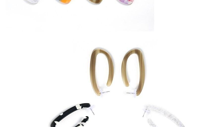 AYAYOO Big Hoop Earrings For Women 2018 Color White Fashion Fringe Earrings Boho Wedding Party Jewelry Summer Style Brincos (2)