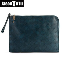 Famous brand design Male bag Men Clutch bag Day Clutches handbag Good quality PU leather Ipad bags 15-25 days to Moscow B326