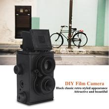 35mm DIY Toy Retro Lomo Film Camera Kit Twin Lens Reflex TLR DIY Assembling Film Camera Toy Gift for Children Adult(China)
