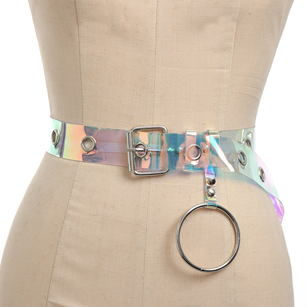 Hot Sale 2019 New Spring Metal Ring Split Joing Personality Transparent Color Mini-bag Long Belt Women Fashion Tide All-match Je440 Wide Selection; eam