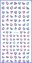 WATER TRANSFER DECAL NAIL STICKER DIAMOND RUBY FEATHER PERFUME BOTTLE YE411-416