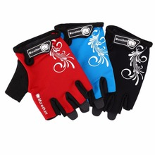 1Pair Bike Gloves Half Finger Team Guantes Ciclismo Breathable Gloves for Man Woman Kids Summer Bicycle Glove