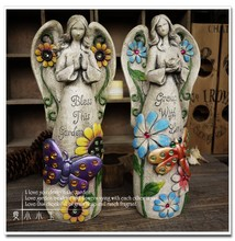 Mexico Garden Big Angels 2pcs/set Resin Ornaments Decorations Wedding Gifts Lucky Christmas Gift Home Crafts