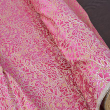 printed silk brocade satin fabric