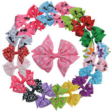 20PCS Little Girl 3 Inch Grosgrain Ribbon Hairbows With Alligator Clip Kids Small Hair Clip Pin Girls Hair Accessories Free Gift
