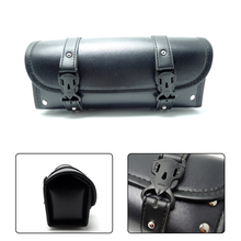 For Harley Motorcycle Front Forks Sissy Bar Tool Bags Scooter Handlebar Bags Storage Tool Pouch Luggage leather Bag(China)