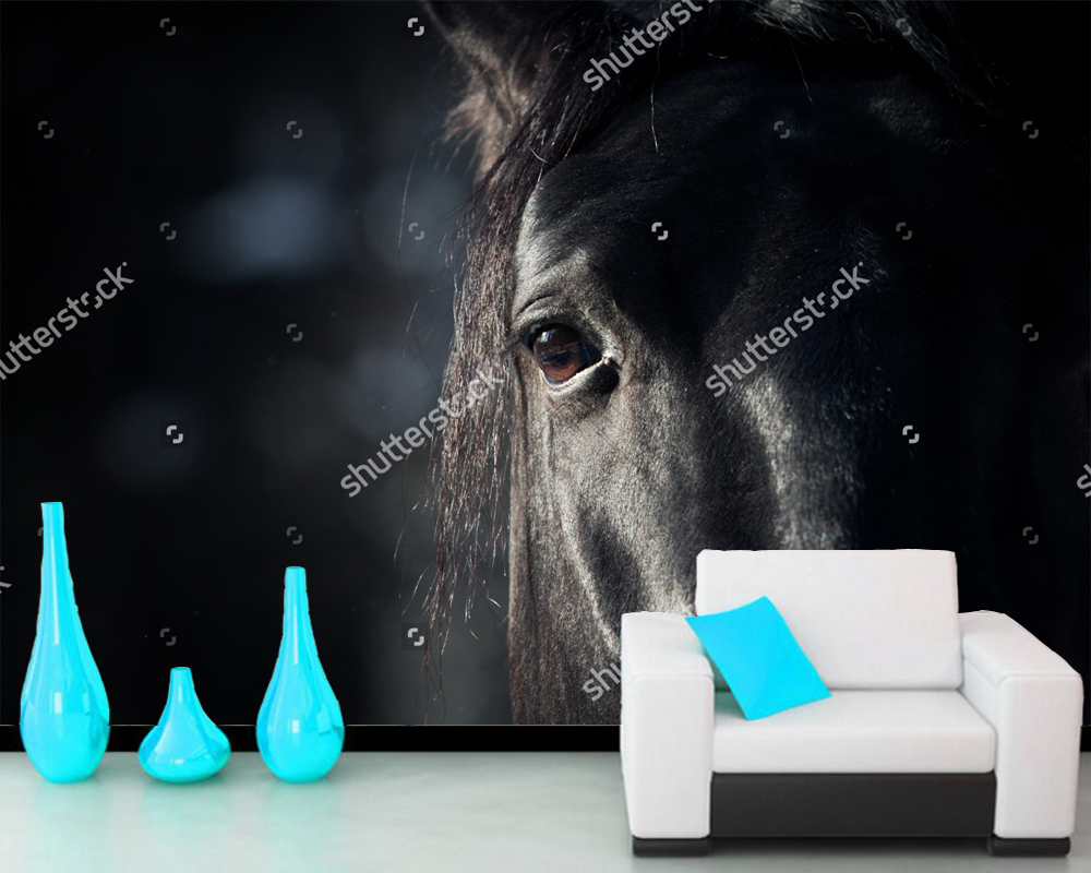 Custom home decoration papel de parede, horse eye in dark, 3D for living room bedroom sofa background wallpaper murals PVC<br>