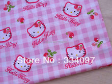 Cotton Twill Fabric - Hello kitty and patch (width=160cm)