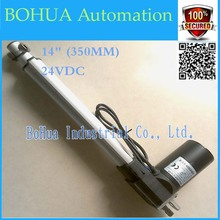 Best ! 24v 350mm (14inch)micro linear actuator, electric linear actuator, thrust 5000N/500KG/1100LBS, tv lift Customized stroke