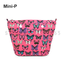 New cartoon flower Colourful Insert Lining Inner Pocket for Mini O Bag Obag Women's Should Bags Totes Handbag(China)