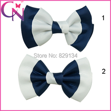 Boutique Girls Hairbows With Clip Handmade Grosgrain Hairbow Free Shipping 24pcs/lot Childrens Hair Accessories ZH24-141229010
