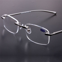 Frameless Glasses Reading Glasses Women Men HD Lens Round Rimless Spectacles Presbyopia Female Male Reading Glasses