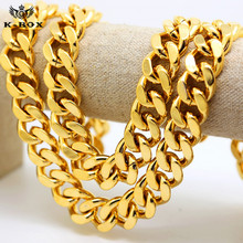 "600 gram Jay Z 18mm  39"" 24k Golden Miami Curb Cuban Solid Thick Heavy Men's Long Chain"