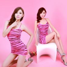 High Quality Sexy Lingerie Transparent Sheer Clothes Zebra Fish Printing Body Stocking Nightgown Lingerie Catsuit Women