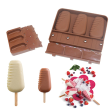 1PCS Silicone Molds 3 Cavities Half Stripe Shaped Fun And Original Ice Cream Mould