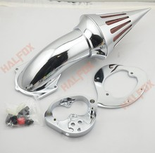 Chrome Spike Air Cleaner Kits Intake Filter For Kawasaki Vulcan 1500/1600 CLASSIC FUEL INJECTED 2000 2001 2002 2003 2004 - 2012