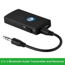 2in1 Mini 3.5mm Jack Wireless Bluetooth Audio Transmitter and Receiver Stereo Dongle Adapter for Phone TV MP3 PC Speaker