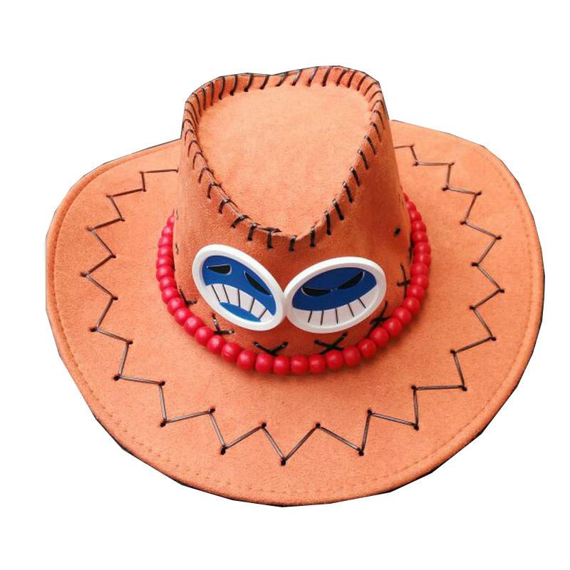 Coshome One Piece Luffy Yellow Straw Boater Beach Hats Tony Chopper Trafalgar Law White Plush Cap Ace Orange West Cowboy Hats (3)