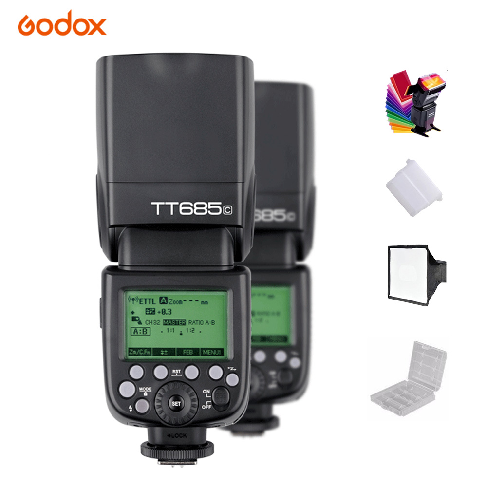GODOX TT685C TT685N TT685S Flash Speedlite TTL 2.4G HSS 1/8000s GN60 Wireless Speedlight Canon Nikon Sony Camera