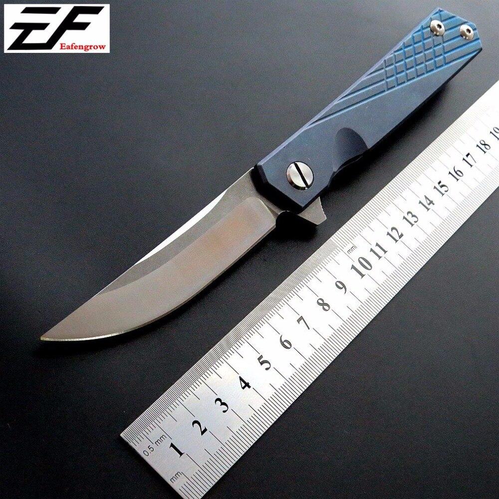 Hot sale EF216 Pocket knife D2 Bearing folding knife TC4 titanium alloy hunting knife outdoor camping EDC Tool knife<br>