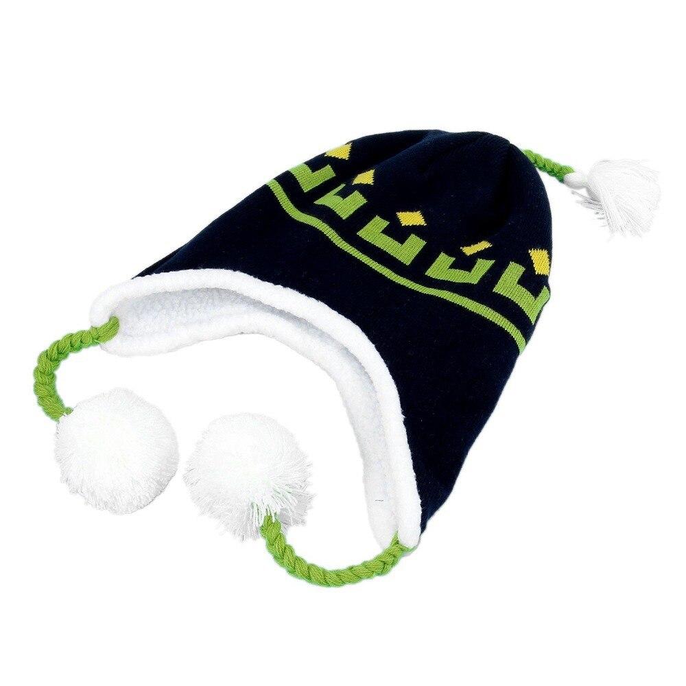 Winter Warm Hat DRAMAtical Murder DMMD Noiz Knitted Beanie Cap+Badge Cosplay