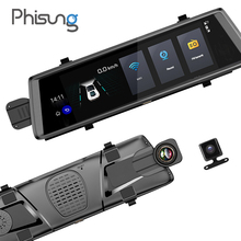 "Phisung V6 car dvrs 10"" Touch Android 5.0 GPS Navigators FHD 1080P video recorder mirror dvr WIFI 3G camara para automovil"