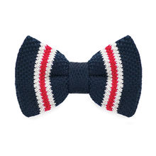 LF-330 2016 New Arrival Knitted Crochet Men`s Bowties Adjustable Blue Novelty Pattern For Men Party Bussiness Free Shopping