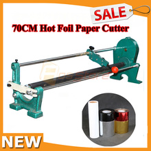 700MM Hot Stamping Embossing Gilded Foil Paper PU Hand Cutter Slitter Vinyl Manual Roll Cutting Machine 27inch