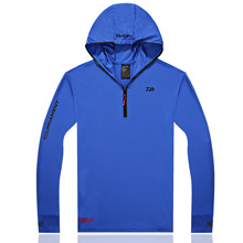 2017 Fishing Shirt Clothing Breathable Sunscreen Shirt Men Quick Drying UPF 50+ Long Sleeve Hooded Fishing Shirts(China)