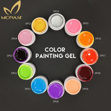 MONASI #50618 Nail Art Paint Color Gel Draw Painting Acrylic Silver Golden UV Gel Tip Nail Art Painting UV Gel Polish 1pcs Set