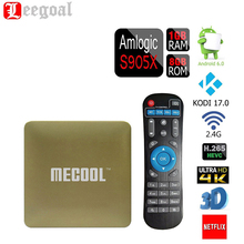 MECOOL HM8 Smart TV Box 3D 4K Streaming Media Player Android 6.0 Amlogic S905X Quad Core Kodi 17.0 1G+8G OTA WiFi Mini TV Box