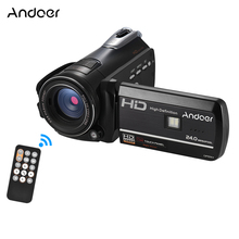 Andoer HDV-D395 Digital Video Camera DV WiFi 1080P 30fps FHD 24M 18X Zoom Camcorder With Remote Control + LED Light